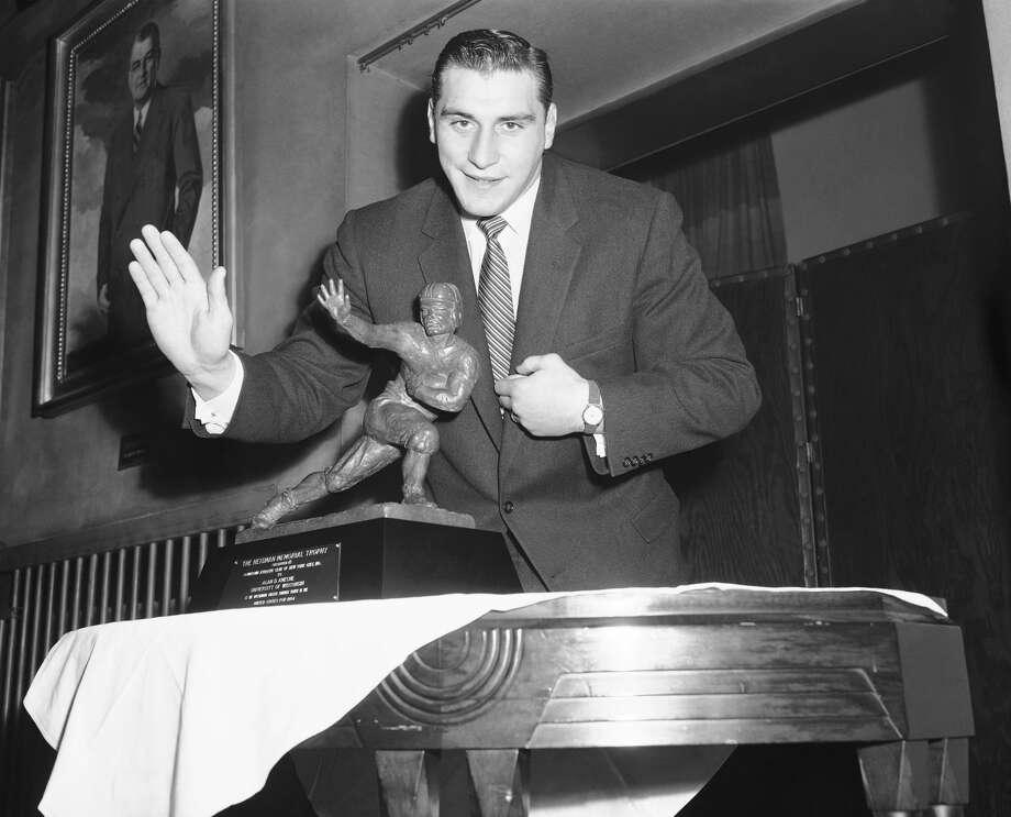 1954: Alan Ameche  School: Wisconsin Position: FB  Class: Senior