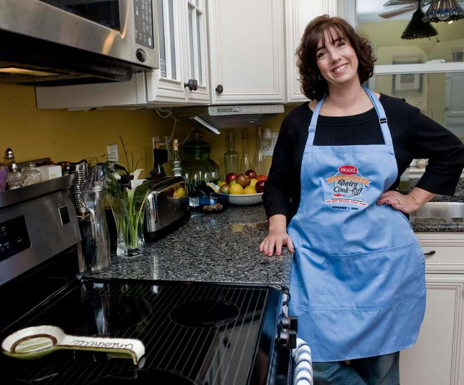 Antoinette Leal in her kitchen in Ridgefield. She was one of five semifinalists in the Hood New England Cook-Off contest. Photo: Scott Mullin / The News-Times