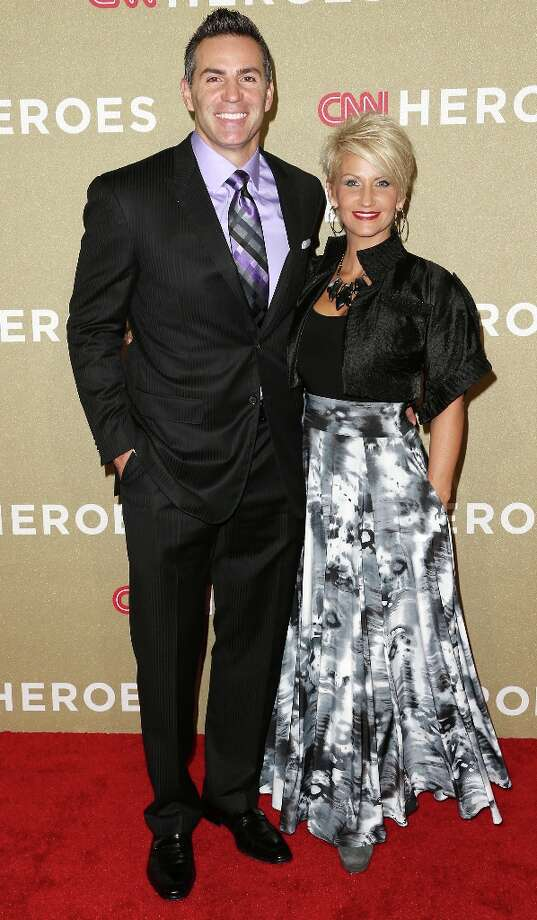 Former NFL player Kurt Warner and his wife attend the CNN Heroes: An All Star Tribute at The Shrine Auditorium on December 2, 2012 in Los Angeles, California.  (Photo by Frederick M. Brown/Getty Images) Photo: Frederick M. Brown, Getty Images / 2012 Getty Images