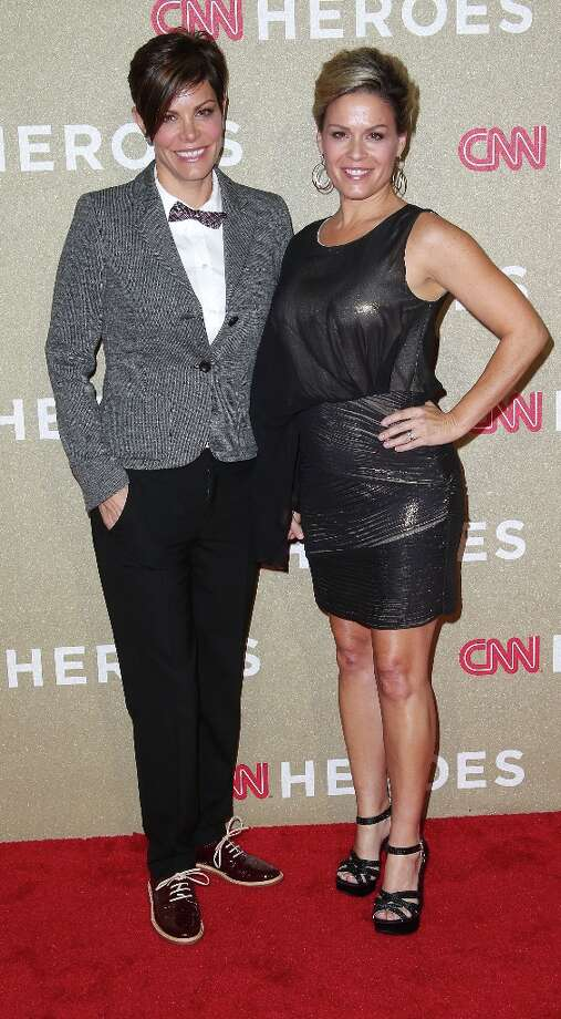 Jennifer Cora (L) and chef Cat Cora attend the CNN Heroes: An All Star Tribute at The Shrine Auditorium on December 2, 2012 in Los Angeles, California.  (Photo by Frederick M. Brown/Getty Images) Photo: Frederick M. Brown, Getty Images / 2012 Getty Images