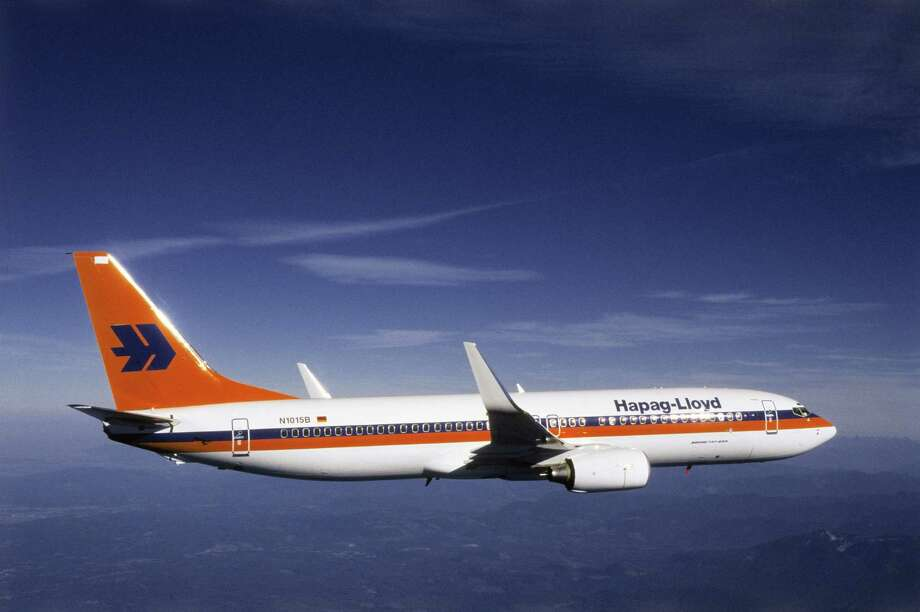 In 2001, Germany's Hapag-Lloyd became the first airline to fly a 737 (a 737-800) with fuel-saving Blended Winglets. Photo: THE BOEING CO