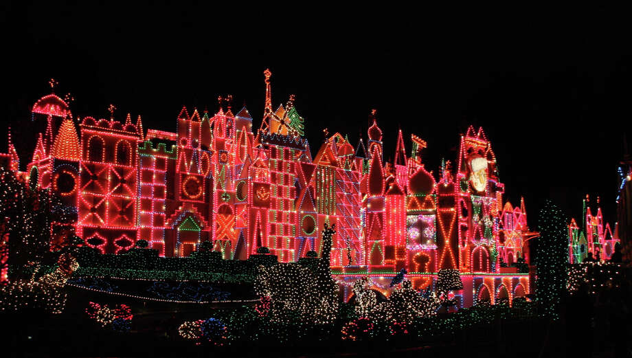 1) Ohh and ahh when over 50,000 lights turn the facade of the It's a Small World ride into a sparkling wonderland. This is truly the most beautiful thing you'll ever see at Disneyland.  (Anthony Falzone)