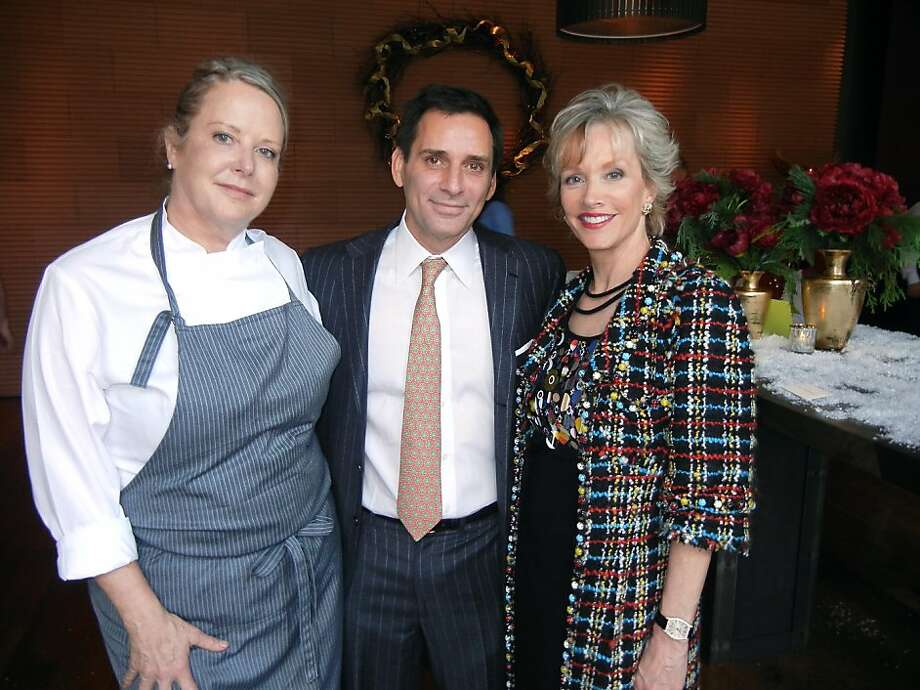 Chef Nancy Oakes (left) turned the Prospect over to Seth Matarasso and OJ Shansby (and her husband, Gary) for a luncheon replete with A-list revelry. Photo: Catherine Bigelow, Special To The Chronicle