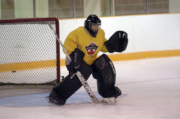 The Brunswick hockey team captain Gryphon Richardson practicing at Hartong Rink in Greenwich, Conn., Dec. 2, 2012. Photo: Keelin Daly / Stamford Advocate Riverbend Stamford, CT