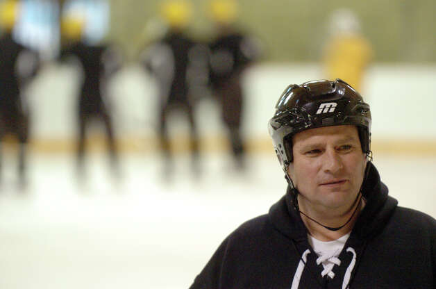 The Brunswick hockey Coach Ron VanBelle at Hartong Rink in Greenwich, Conn., Dec. 2, 2012. Photo: Keelin Daly / Stamford Advocate Riverbend Stamford, CT
