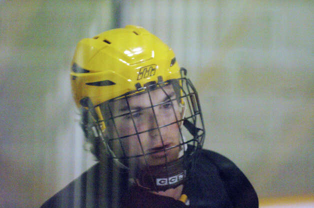 Brunswick hockey player Nick Viceconte at Hartong Rink in Greenwich, Conn., Dec. 2, 2012. Photo: Keelin Daly / Stamford Advocate Riverbend Stamford, CT