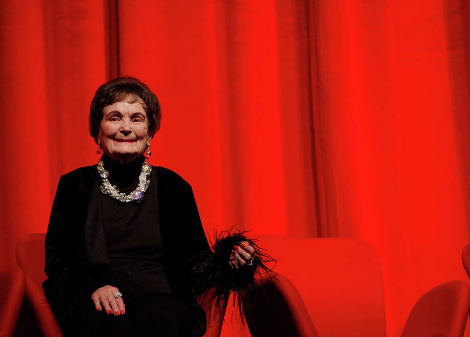 Mayor emeritus Lila Cockrell smiles during speeches given in her honor as the City of San Antonio celebrates the rededication of the Lila Cockrell Theatre with guest of honor Cockrell also celebrating her 89th birthday on Wednesday, Jan. 19, 2011. Several hundred guests attended the event at the theater which underwent a $26 million renovation. Photo: KIN MAN HUI, SAN ANTONIO EXPRESS-NEWS / San Antonio Express-News