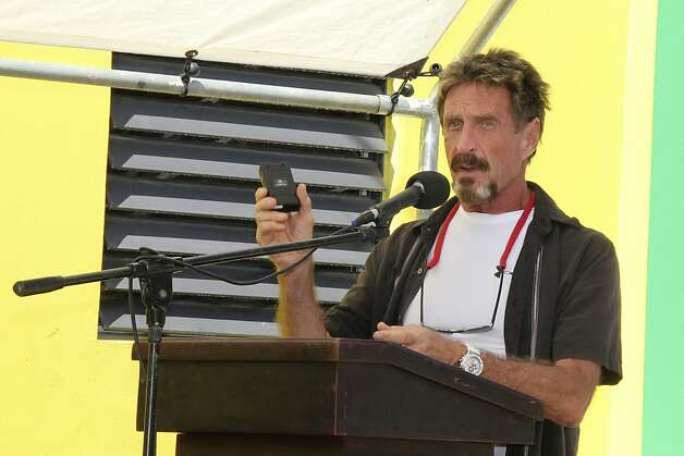 John McAfee is being sought for questioning. Photo: Sofia Munoz, Associated Press
