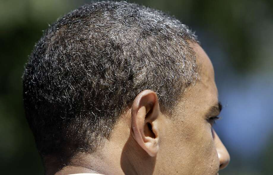 In 2008, then-presidential candidate Barack Obama remarked that the campaign was graying his hair. Photo: Alex Brandon, ASSOCIATED PRESS