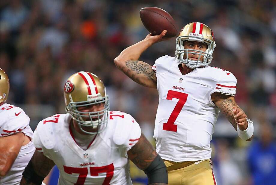 After his ill-advised pitch cost the 49ers the lead, Colin Kaepernick showed his diverse skills on three perfectly executed plays. Photo: Dilip Vishwanat, Getty Images