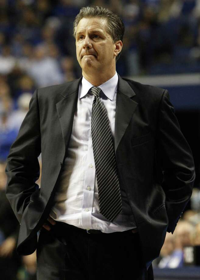 Kentucky head coach John Calipari looks on from the sideline during the second half of an NCAA college basketball game against Baylor at Rupp Arena in Lexington, Ky., Saturday, Dec. 1, 2012. Baylor upset No. 8 Kentucky 64-55. (AP Photo/James Crisp) Photo: James Crisp