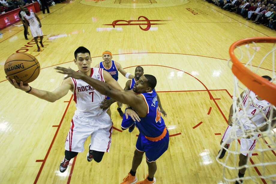 Jeremy Lin already has faced the Knicks in the friendly confines of Toyota Center, but he'll get the chance to meet his former team where he became a star when the Rockets play at Madison Square Garden on Monday. Photo: Smiley N. Pool, Staff / © 2012  Houston Chronicle