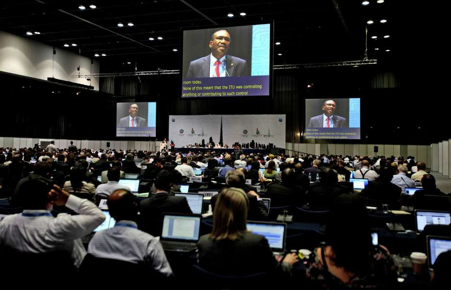 """Hamadoun Toure, secretary-general of the U.N. International Telecommunications Union, told delegates in Dubai: """"Many countries will come to reaffirm their desire to see freedom of expression embedded in this conference."""" Photo: Kamran Jebreili, STF / AP"""
