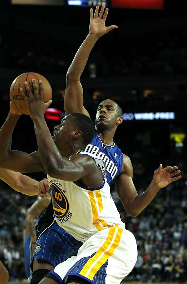Golden State Warriors' Harrison Barnes (40) drives to the basket against the Orlando MagicÕ during the first half of an NBA basketball game in Oakland, Calif., Monday, Dec. 3, 2012 Photo: Lance Iversen, The Chronicle