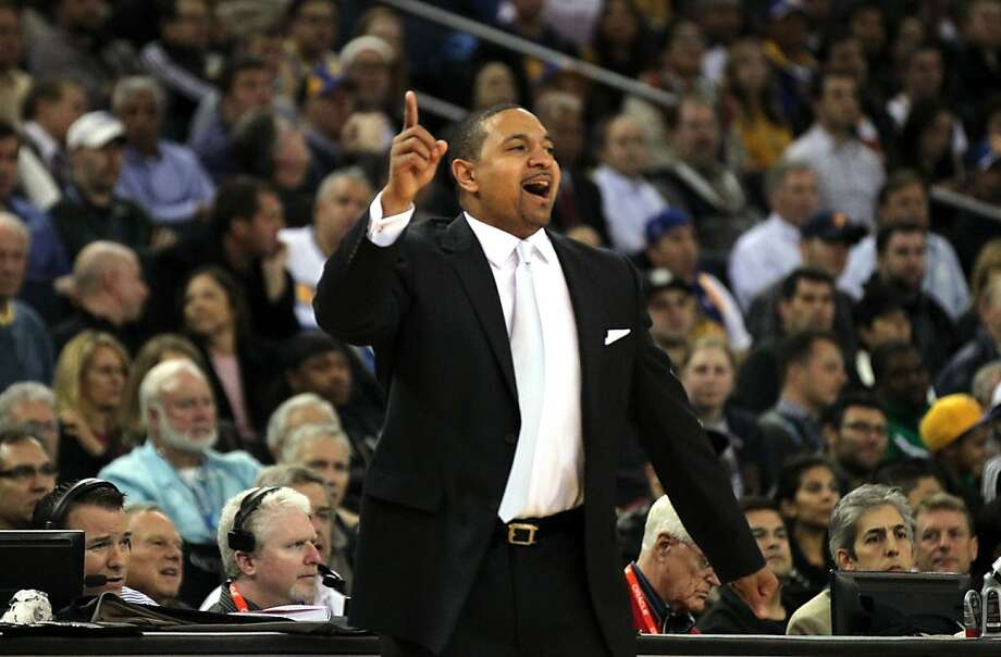 Mark Jackson says there's a lot more to coaching than just understanding basketball, and the personal relationship he's built with his players has carried over to success on the court. Photo: Lance Iversen, The Chronicle
