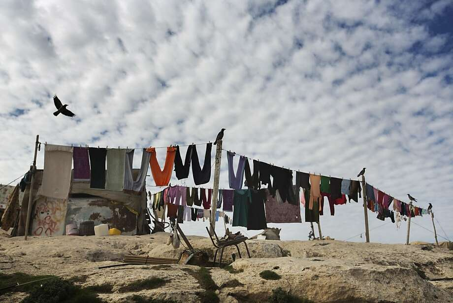 A Bedouin camp is seen in the E1 area, between Jerusalem and the Israeli West Bank settlement of Maale Adumim, on December 3, 2012. Paris and London called in Israel's envoys for  consultations as the Jewish state faced mounting diplomatic pressure over plans to build 3,000 settler homes in E1 and east Jerusalem and the West Bank. Photo: Menahem Kahana, AFP/Getty Images