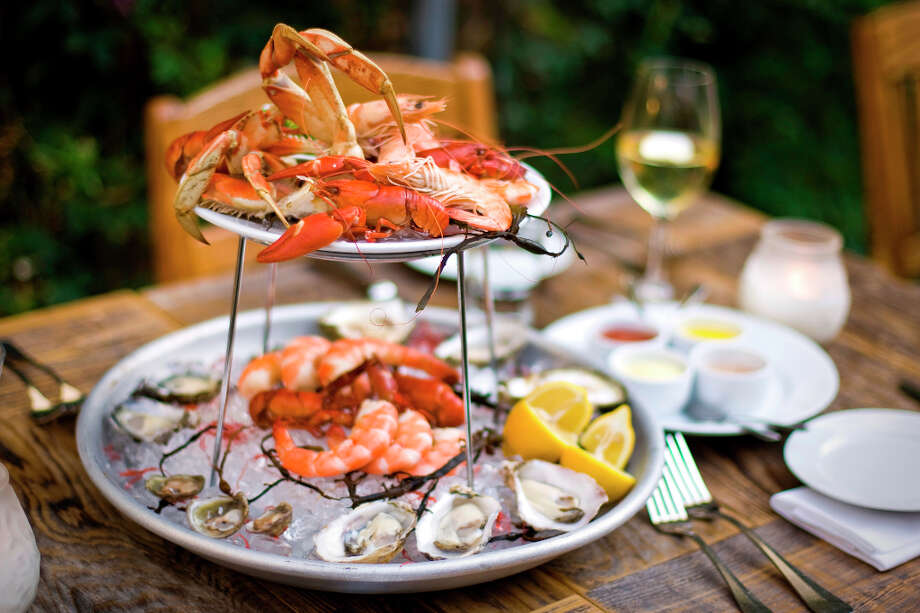 Foreign Cinema: Fruits de mer platter. (Chronicle) Photo: Peter DaSilva