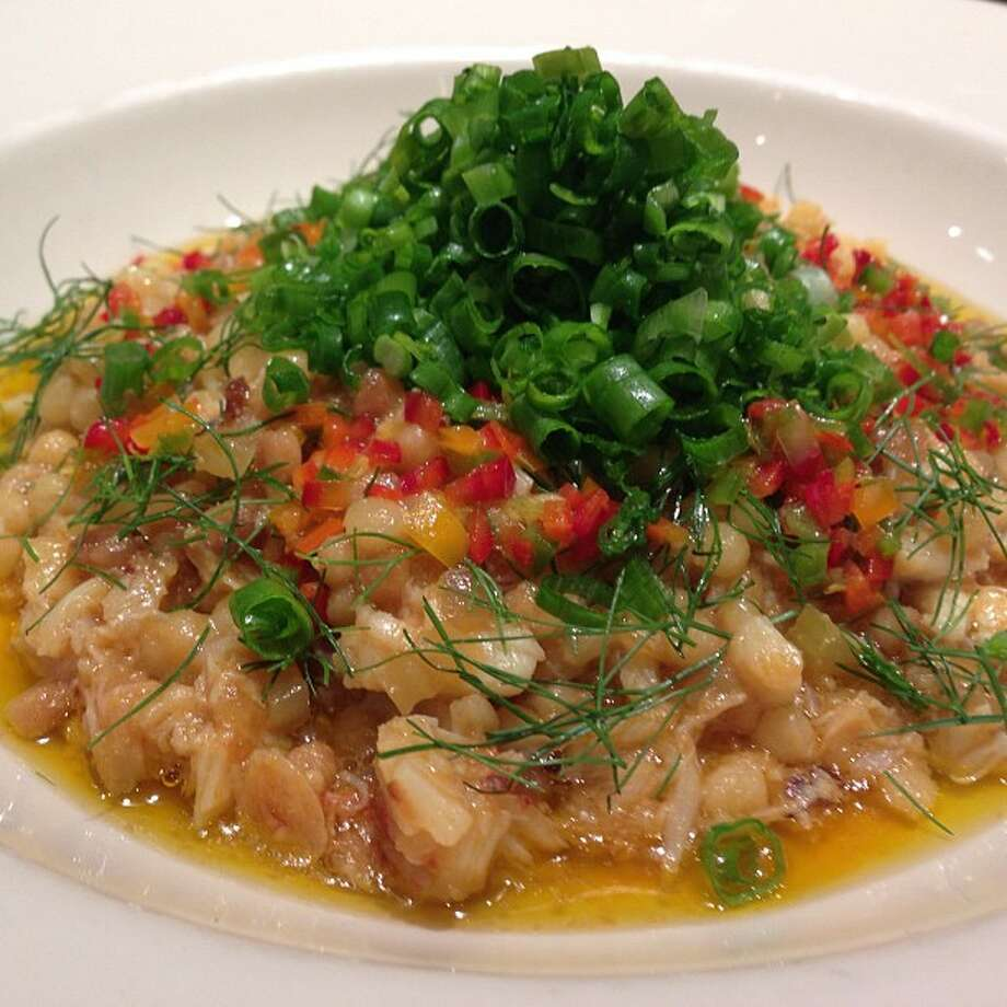Incanto: Dungeness crab fregola, chiles and scallions