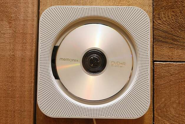 The wall-mounted cd player displayed at Muji. Photo: Liz Hafalia, The Chronicle