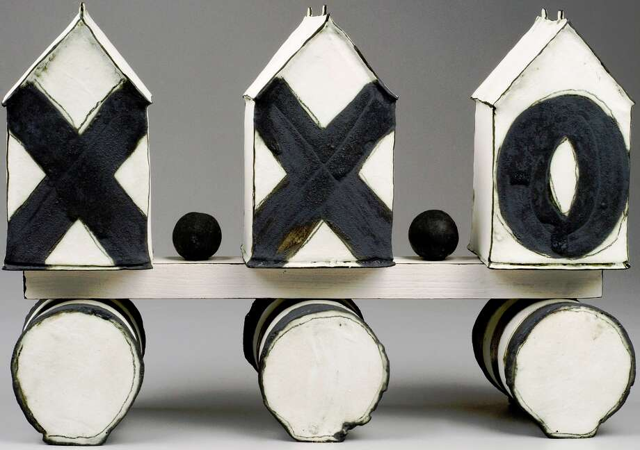"This ceramic house sculpture, ""xxo,"" by Mary Fischer, will be part of the inaugural Mockingbird Holiday Market. Courtesy photo Photo: Courtesy Photo"