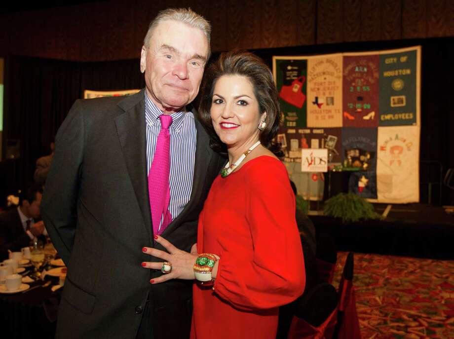 Gordon Bethune and Jessica Rossman Photo: J. Patric Schneider, Freelance / © 2012 Houston Chronicle