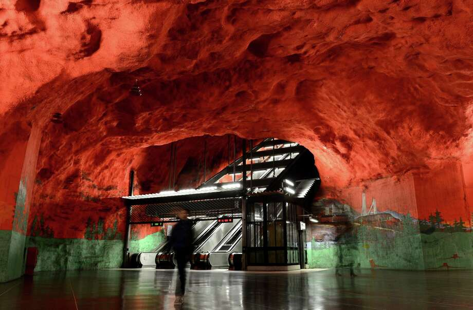 People walk at the Solna subway station on Nov. 6, 2012, in Stockholm. Photo: JONATHAN NACKSTRAND, AFP/Getty Images / AFP