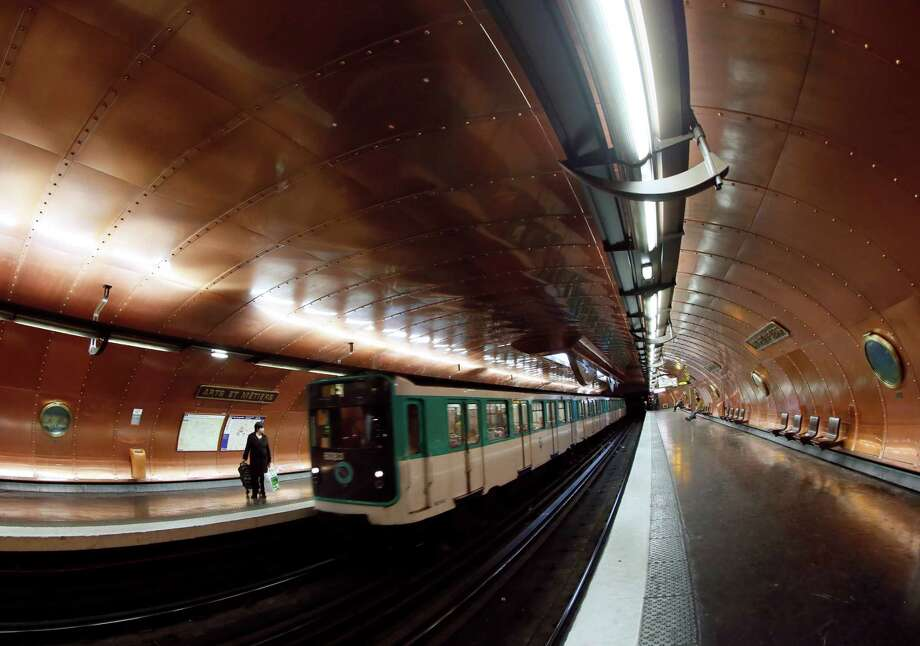 "A picture taken on Nov. 28, 2012, of a train arriving at the ""Arts et Métiers"" metro station in Paris. Photo: PATRICK KOVARIK, AFP/Getty Images / AFP"