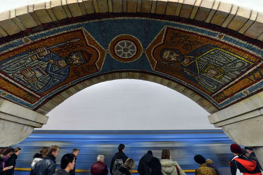"A corridor of the ""Gold Gate"" subway station in Kiev is seen Nov. 13, 2012. Photo: SERGEI SUPINSKY, AFP/Getty Images / AFP"