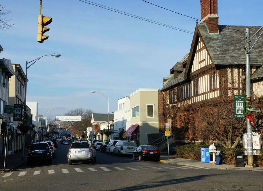 A text amendment to zoning regulations proposed by architect Bill Achilles would allow second-floor retail use on Main Street and Post Road East in the Business Center District. Photo: Paul Schott / Westport News