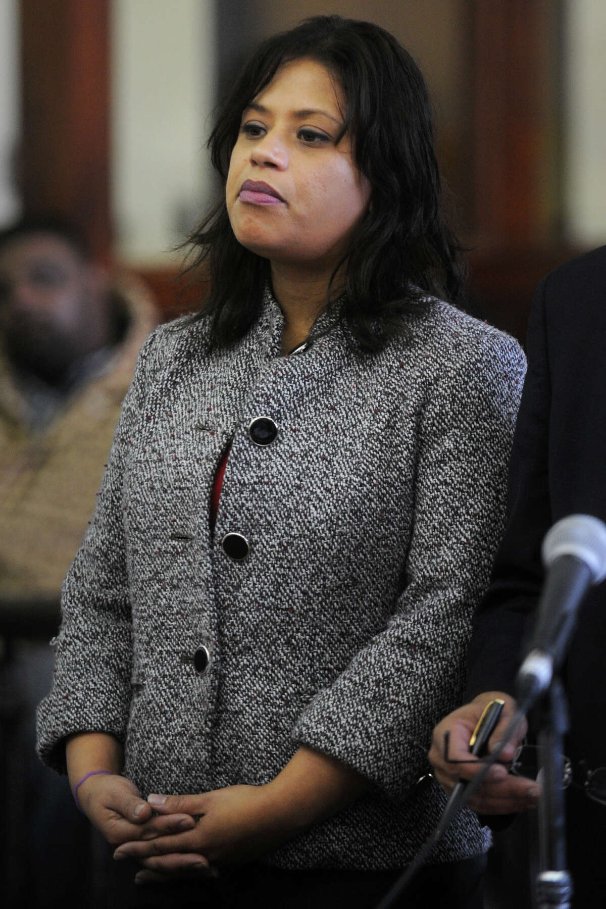 Incoming state Rep. Christina Ayala is arraigned in Superior Court, in Bridgeport, Conn. Dec. 4th, 2012. Ayala is charged with breach of peace after, police say, she slapped her boyfriend following an argument late Monday night at their 49 Hillside Ave. home. Ayala is already awaiting trial in a hit and run case.