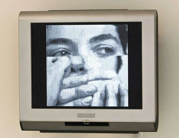 "Mona Hatoum's video installation ""There's so much I want to say"" is featured in the ""Hieroglyphics"" exhibit. Photo: Courtesy Linda Pace Foundation"