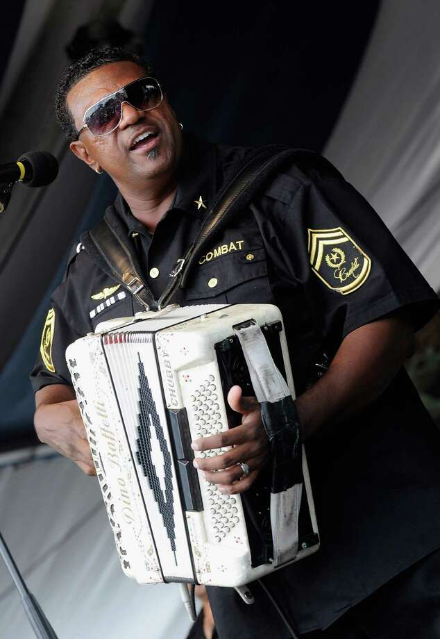 """Chubby Carrier & the Bayou Swamp Band perform during the 2012 New Orleans Jazz & Heritage Festival in New Orleans. Carrier's """"Rockin' With Roy"""" includes covers by Joseph Roy Carrier as well as some originals. Photo: Rick Diamond, Getty Images / 2012 Getty Images"""