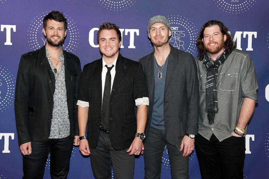 (L-R): Jon Jones, Mike Eli, James Young, and Chris Thompson of Eli Young Band attend the 2012 CMT Artists Of The Year Awards at The Factory At Franklin on December 3, 2012 in Franklin, Tennessee.  (Photo by Erika Goldring/Getty Images) Photo: Erika Goldring, Getty Images / 2012 Getty Images