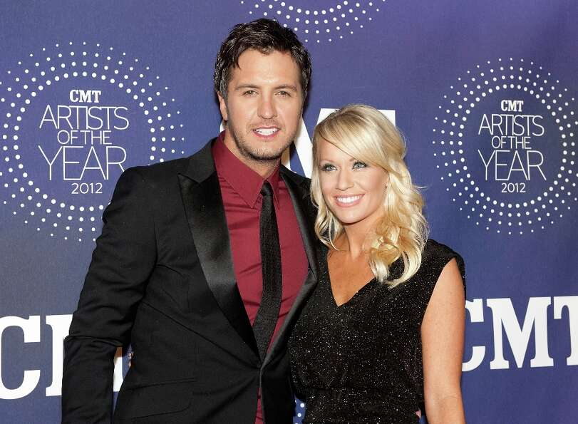 Luke Bryan and Caroline Boyer attend the 2012 CMT Artists Of The Year Awards at The Factory At Frank