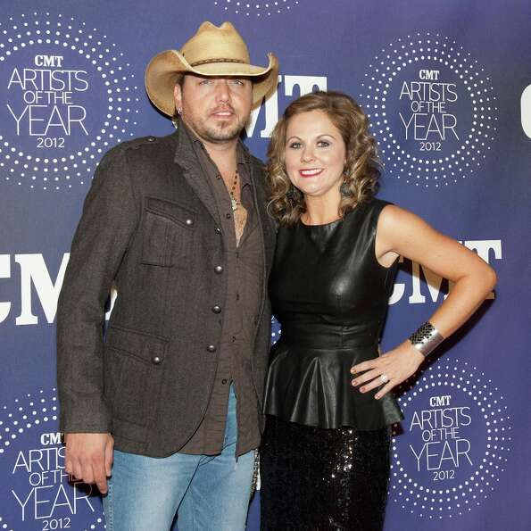 Jason Aldean and Jessica Ussery Aldean attend the 2012 CMT Artists Of The Year Awards at The Factory