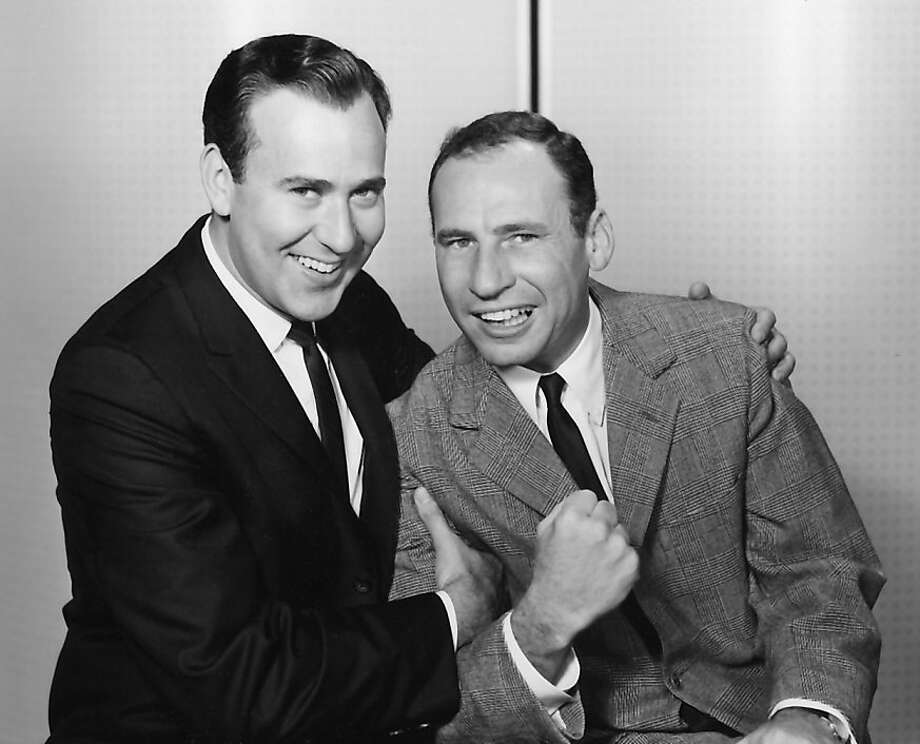 "A young Carl Reiner (left) and Mel Brooks in a clip from the classic skit ""The 2,000 Year Old Man."" Photo: Demont PHoto Management"