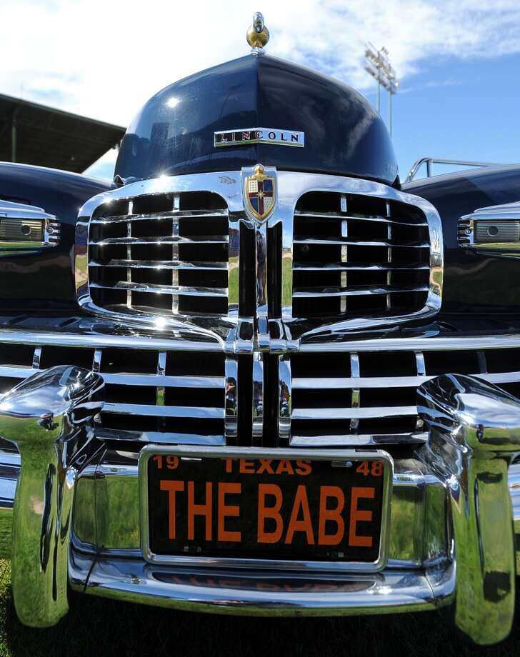 A 1948 Lincoln Continental. Babe Ruth's former car. (AP Photo/The Amarillo Globe News, Roberto Rodriguez / Associated Press)