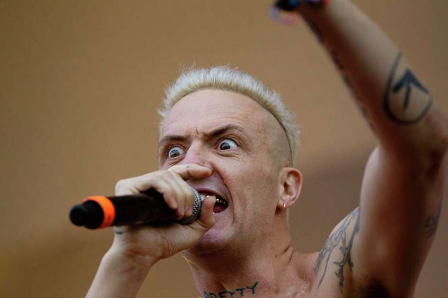 When Die Antwoord isn't grossing/weirding people out with videos making fun of a Lady Gaga trip to the gynecologist, they are making some of the worst music known to man.  Photo: Sitthixay Ditthavong, Associated Press / Invision