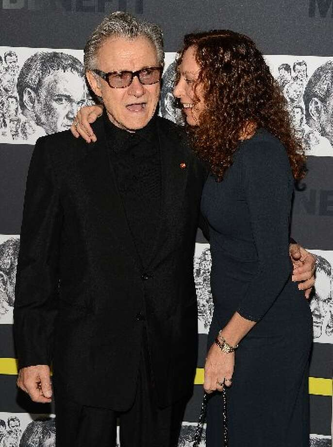(L-R) Harvey Keitel and Daphna Kastner attend The Museum of Modern Art Film Benefit Honoring Quentin Tarantino at MOMA on December 3, 2012 in New York City. (Photo by Andrew H. Walker/Getty Images) (Getty)