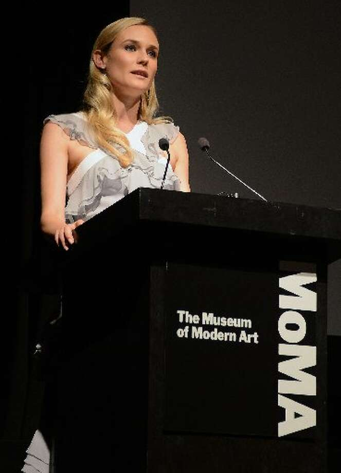 Actress Diane Kruger speaks at The Museum of Modern Art Film Benefit Honoring Quentin Tarantino at MOMA on December 3, 2012 in New York City. (Photo by Andrew H. Walker/Getty Images) (Getty)