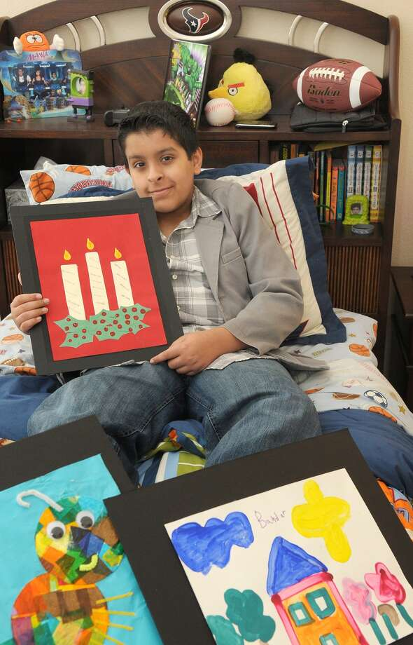 Bandar Alfadhel, 13, an eighth-grader at Nolan Ryan Junior High, is a cancer survivor who had some of his artwork selected for the MD Anderson's Children's Art Project.     Bandar Alfadhel, 13, an eighth-grader at Nolan Ryan Junior High, is a cancer survivor who had some of his artwork selected for the MD Anderson's Children's Art Project. Photo: Jerry Baker, Freelance