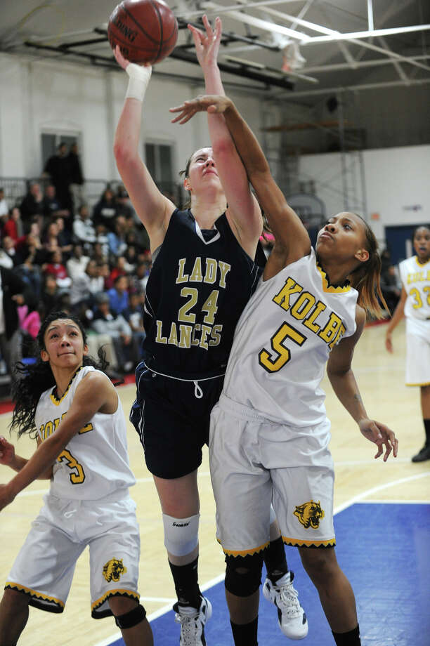 ND's Aly Furgiuele, pictured in a game January 2012 game against Kolbe, will be one one of the Lancers' top returners. Photo: Brian A. Pounds / Connecticut Post