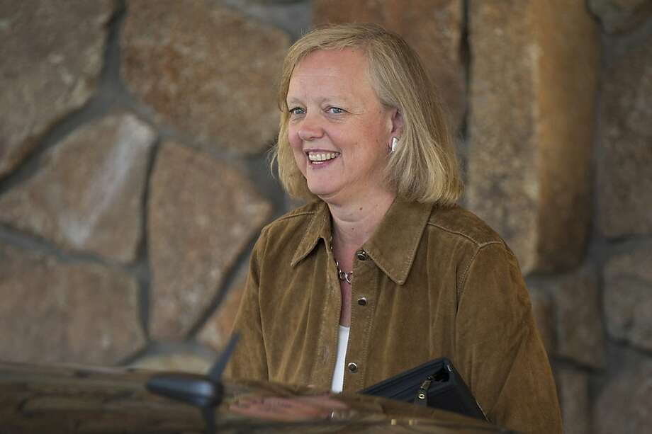 HP CEO Meg Whitman blames former Autonomy execs for the valuation problems. Photo: David Paul Morris, Bloomberg