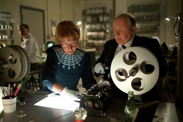 "Helen Mirren as âÄúAlma RevilleâÄù and Anthony Hopkins as âÄúAlfred Hitchcock"" on the set of HITCHCOCK. Photo By Suzanne Tenner Photo: Suzanne Tenner / TM and © 2012 Fox and its related entities. All rights reserved."
