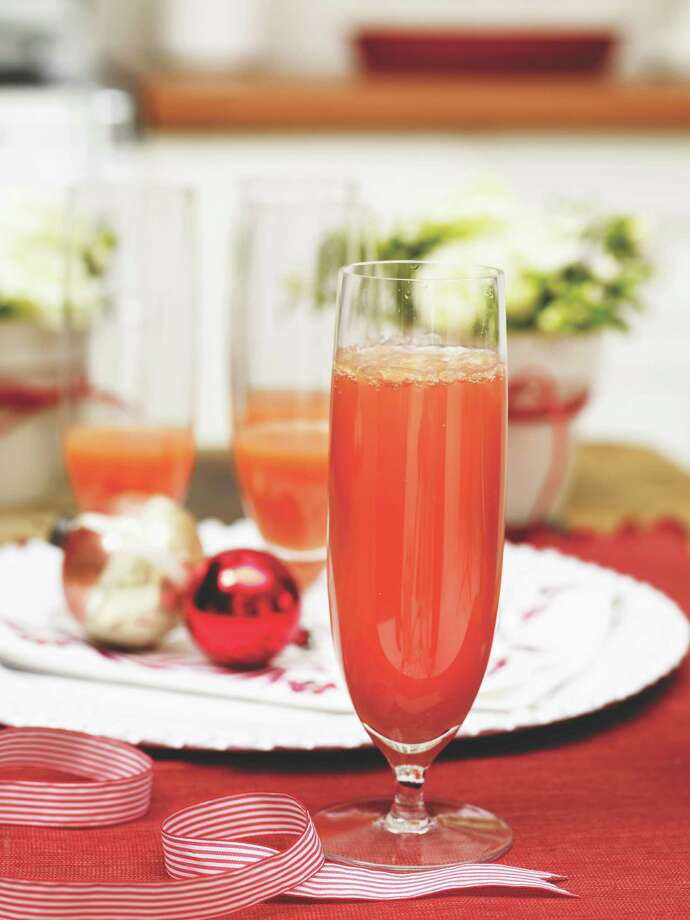 Redbook recipe for Blood Orange Mimosas. Photo: Kate Mathis