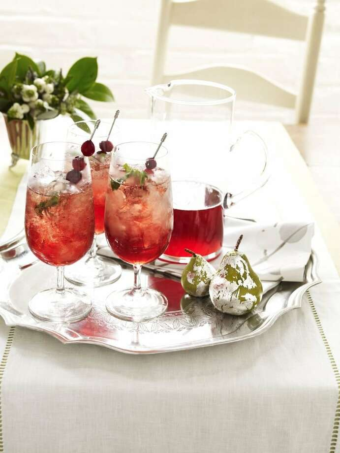 Redbook recipe for Christmas Cranberry Julep. Photo: Kate Mathis