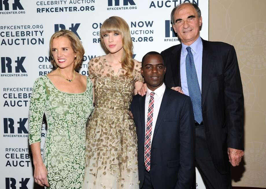 Kerry Kennedy, left, singer Taylor Swift, Ugandan LGBT advocate Frank Mugisha and Cranemere LLC Chairman and CEO Vincent Mai attend the Robert F. Kennedy Center for Justice and Human Rights 2012 Ripple of Hope awards at the Marriott Marquis Hotel on Monday Dec. 3, 2012 in New York. (Photo by Evan Agostini/Invision/AP) Photo: Evan Agostini, Associated Press / Invision