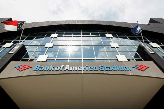 This, Saturday, Aug. 11, 2012, photo, shows the Bank of America Stadium prior to an NFL preseason football game. U.S. banks earned more from July through September than in any other quarter over the past six years. The increase is further evidence that the industry is strengthening four years after the 2008 financial crisis. (AP Photo/Gerry Broome) Photo: Gerry Broome, Associated Press / AP