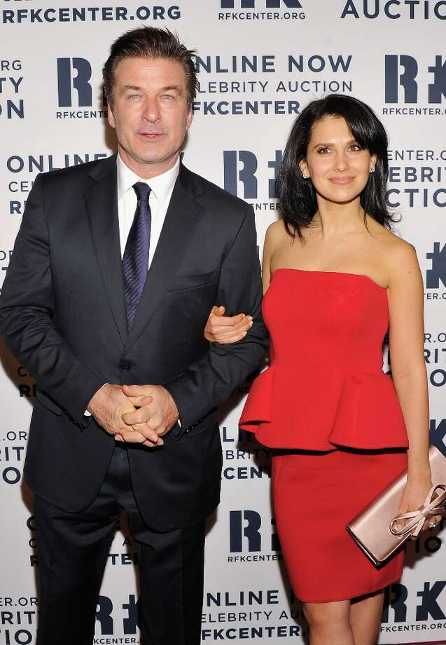 Alec Baldwin (L) and Hilaria Thomas attend the 2012 Ripple Of Hope Gala at The New York Marriott Marquis on December 3, 2012 in New York City.  (Photo by Stephen Lovekin/Getty Images) Photo: Stephen Lovekin, Getty Images / 2012 Getty Images