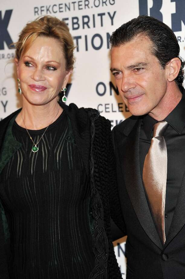 Melanie Griffith (L) and Antonio Banderas attend the 2012 Ripple Of Hope Gala at The New York Marriott Marquis on December 3, 2012 in New York City.  (Photo by Stephen Lovekin/Getty Images) Photo: Stephen Lovekin, Getty Images / 2012 Getty Images